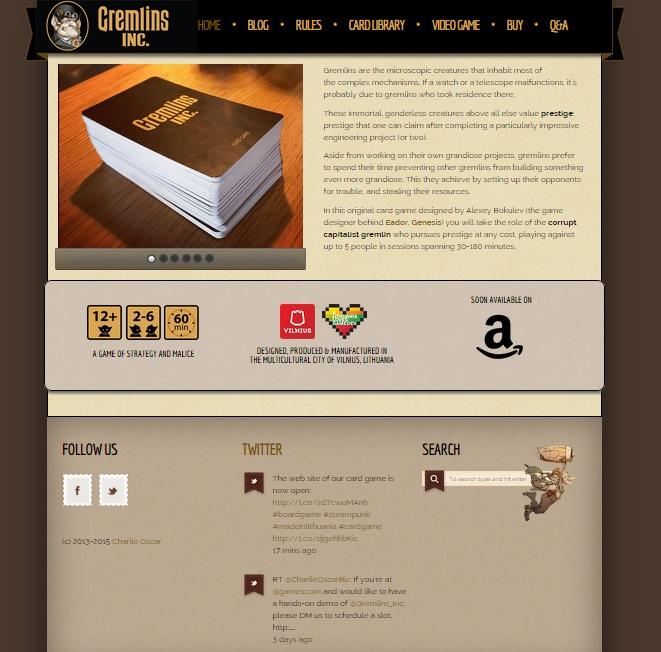 Gremlins Inc. - cardgame